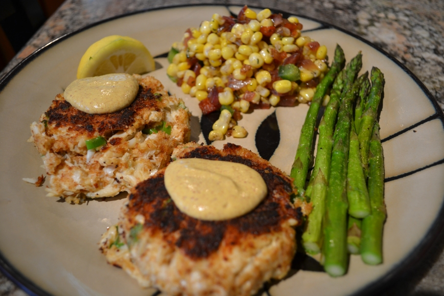 crab cake dinner treat meals my goal called 3154